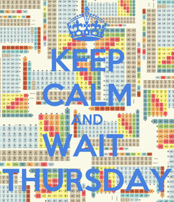 Poster: KEEP CALM AND WAIT  THURSDAY