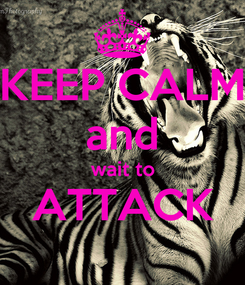 Poster: KEEP CALM and wait to ATTACK