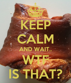 Poster: KEEP CALM AND WAIT.. WTF IS THAT?