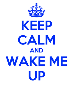 Poster: KEEP CALM AND WAKE ME UP