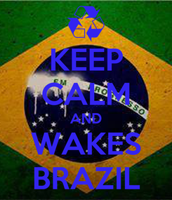 Poster: KEEP CALM AND WAKES BRAZIL