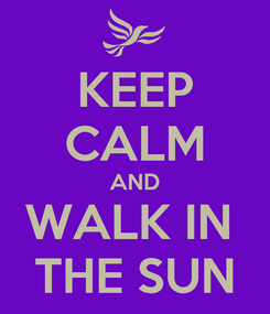 Poster: KEEP CALM AND WALK IN  THE SUN