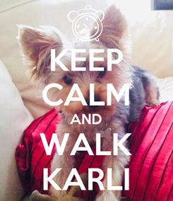 Poster: KEEP CALM AND WALK KARLI