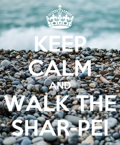 Poster: KEEP CALM AND WALK THE SHAR-PEI
