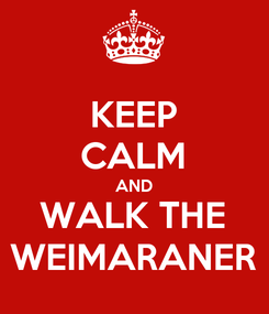 Poster: KEEP CALM AND WALK THE WEIMARANER