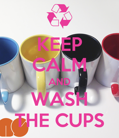 Poster: KEEP CALM AND WASH THE CUPS