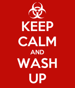 Poster: KEEP CALM AND WASH UP