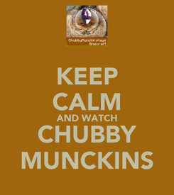 Poster: KEEP CALM AND WATCH CHUBBY MUNCKINS