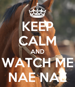 Poster: KEEP CALM AND WATCH ME NAE NAE