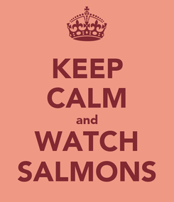 Poster: KEEP CALM and WATCH SALMONS