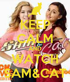 Poster: KEEP CALM AND WATCH SAM&CAT