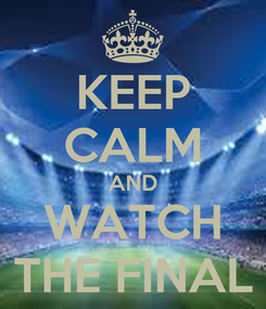 Poster: KEEP CALM AND WATCH THE FINAL