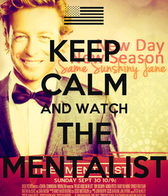 Poster: KEEP CALM AND WATCH THE MENTALIST