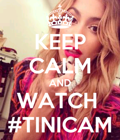 Poster: KEEP CALM AND WATCH  #TINICAM