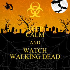 Poster: KEEP CALM AND WATCH WALKİNG DEAD