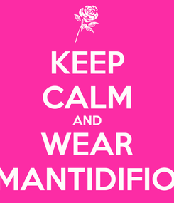 Poster: KEEP CALM AND WEAR AMANTIDIFIORI