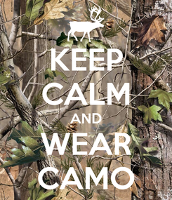 Poster: KEEP CALM AND WEAR CAMO