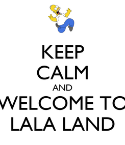 Poster: KEEP CALM AND WELCOME TO LALA LAND