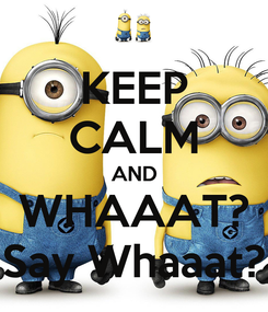 Poster: KEEP CALM AND WHAAAT? Say Whaaat?