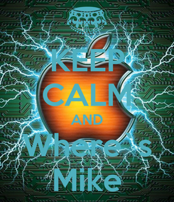 Poster: KEEP CALM AND Where`s Mike