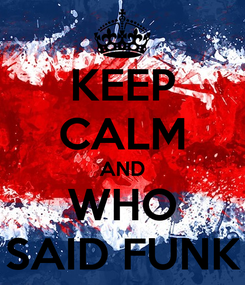 Poster: KEEP CALM AND WHO SAID FUNK