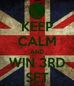 Poster: KEEP CALM AND WIN 3RD SET