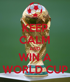 Poster: KEEP CALM AND WIN A WORLD CUP