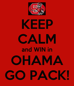 Poster: KEEP CALM and WIN in OHAMA GO PACK!