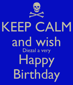 Poster: KEEP CALM and wish Diezal a very Happy Birthday