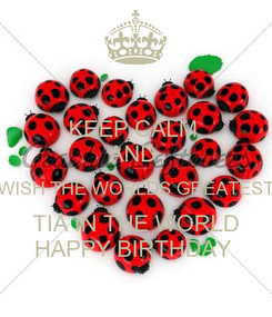 Poster: KEEP CALM  AND  WISH THE WORLDS GREATEST TIA IN THE WORLD HAPPY BIRTHDAY