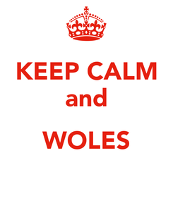 Poster: KEEP CALM and  WOLES