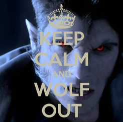 Poster: KEEP CALM AND WOLF OUT