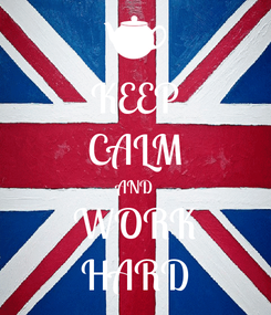 Poster: KEEP CALM AND WORK HARD