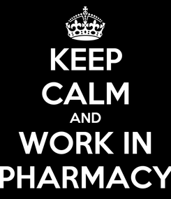 Poster: KEEP CALM AND WORK IN PHARMACY