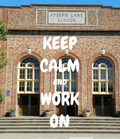 Poster: KEEP CALM AND WORK ON