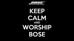 Poster: KEEP CALM AND WORSHIP BOSE