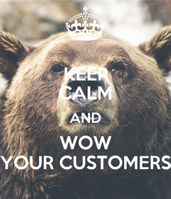Poster: KEEP CALM AND WOW YOUR CUSTOMERS