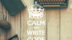 Poster: KEEP CALM AND WRITE CODE