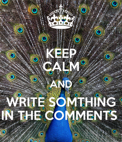 Poster: KEEP CALM AND WRITE SOMTHING IN THE COMMENTS