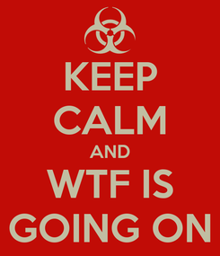 Poster: KEEP CALM AND WTF IS GOING ON