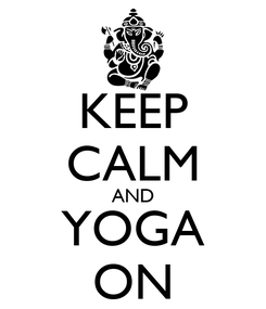 Poster: KEEP CALM AND YOGA ON