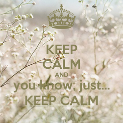 Poster: KEEP CALM AND you know, just... KEEP CALM