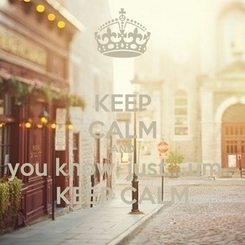 Poster: KEEP CALM AND you know, just....um... KEEP CALM