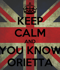 Poster: KEEP CALM AND YOU KNOW ORIETTA