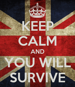 Poster: KEEP CALM AND YOU WILL SURVIVE