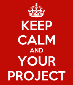 Poster: KEEP CALM AND YOUR PROJECT