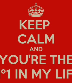 Poster: KEEP  CALM AND YOU'RE THE Nº1 IN MY LIFE