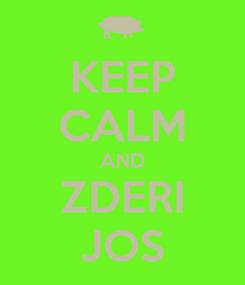 Poster: KEEP CALM AND ZDERI JOS