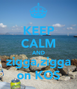 Poster: KEEP CALM AND zigga,zigga on KOS