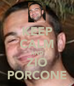 Poster: KEEP CALM AND ZIO PORCONE